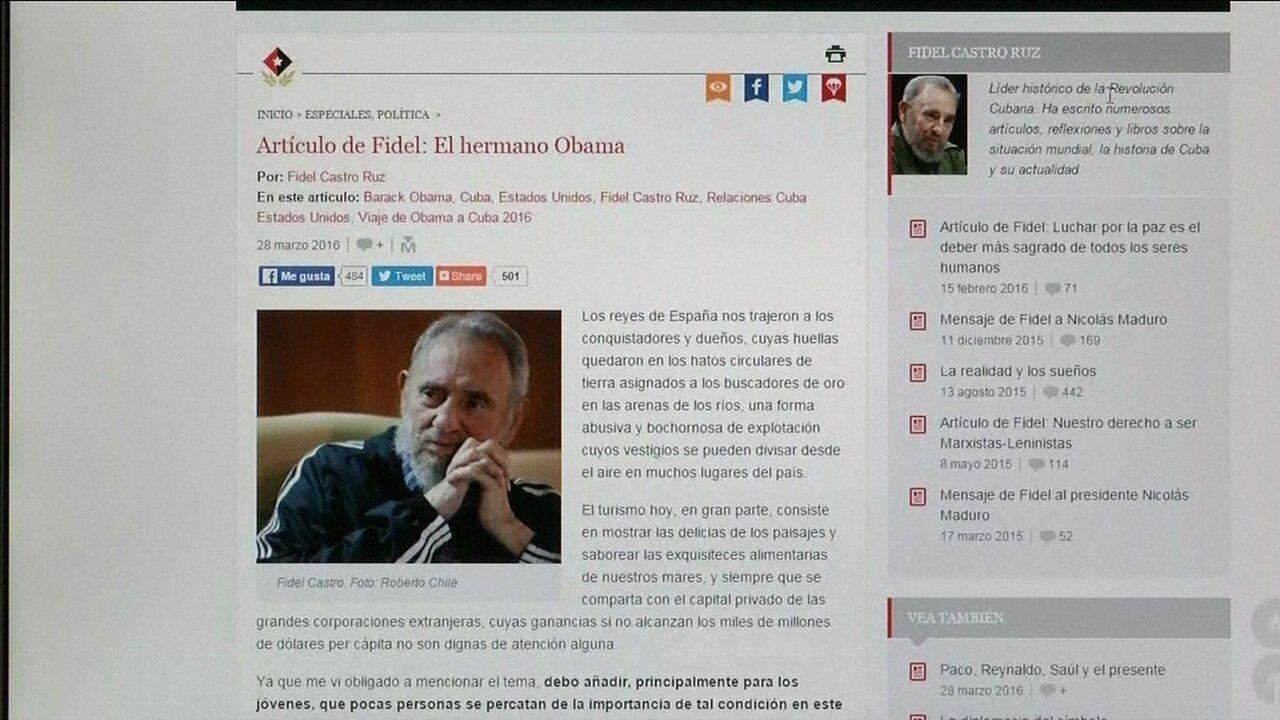 Fidel Castro faz duras críticas a Barack Obama