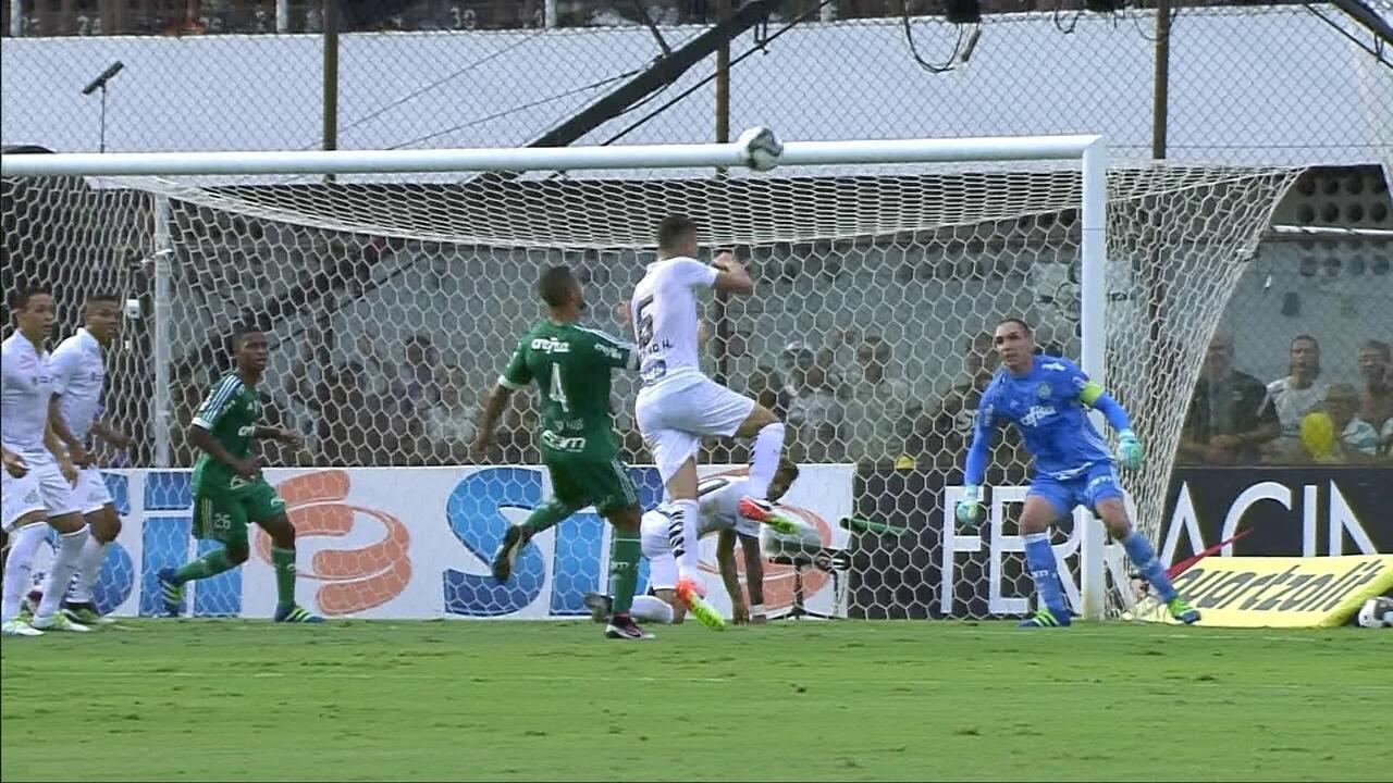 Os melhores momentos de Santos 2 (3) x (2) 2 Palmeiras pela semifinal do Paulistão