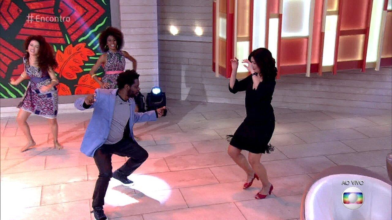 Bukassa já se apresentou no palco do 'Encontro' e fez até Fátima Bernardes dançar