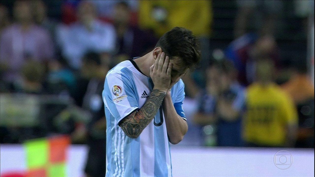 Messi erra pênalti, Chile vence a Argentina e é campeão da Copa América Centenário
