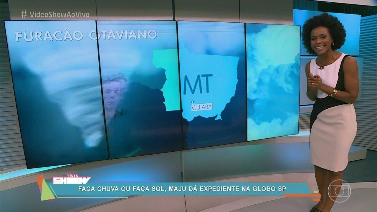 Maria Júlia Coutinho mostra sua rotina no 'Jornal Nacional'