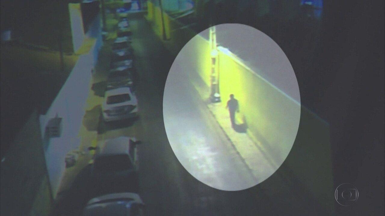 Imagens mostram suspeito de matar Beatriz, em Petrolina