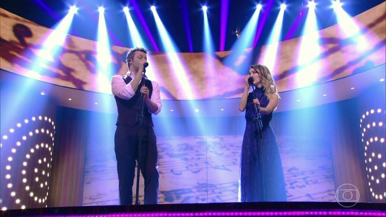 Sandy e Lucas Lima interpretam 'Me espera'