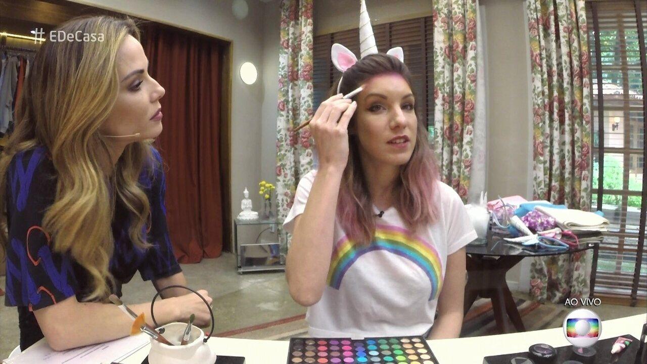 Maquiagem de unicórnio: aprenda o passo a passo e arrase no Halloween