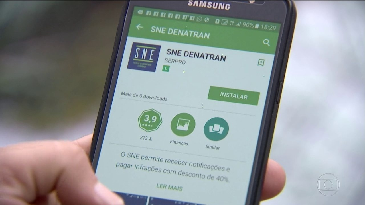 Denatran lança aplicativo que oferece 40% de desconto para infratores