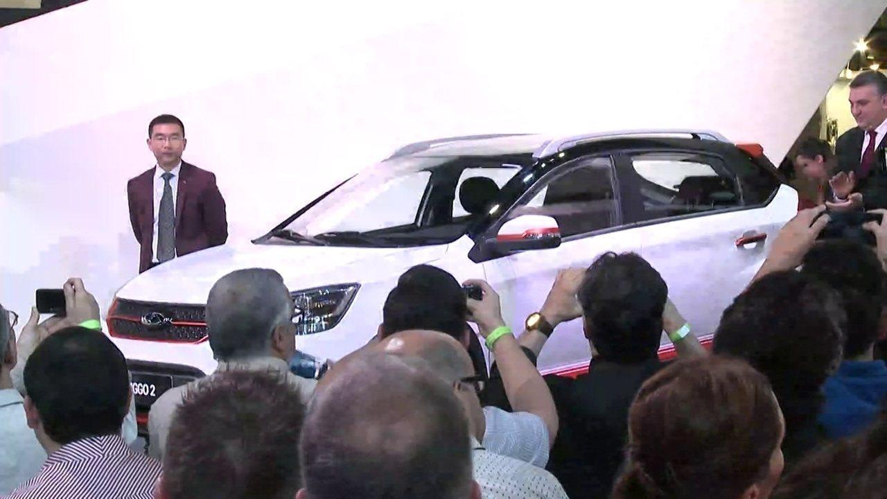 Chery apresenta o modelo Tiggo 2 no Salão do Automóvel 2016