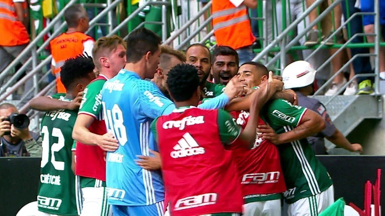 O gol de Palmeiras 1 x 0 Botafogo pela 36ª rodada do Brasileirão