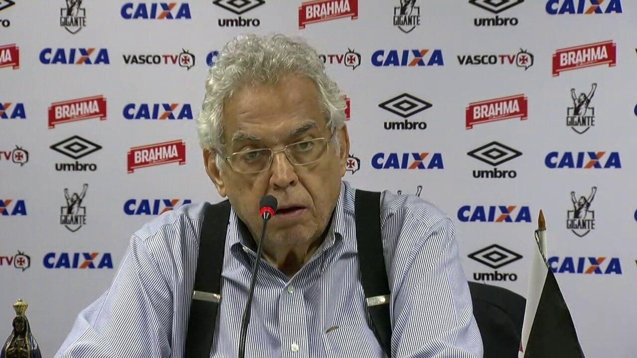 Eurico Miranda diz que tirou Vasco do fundo do poço: