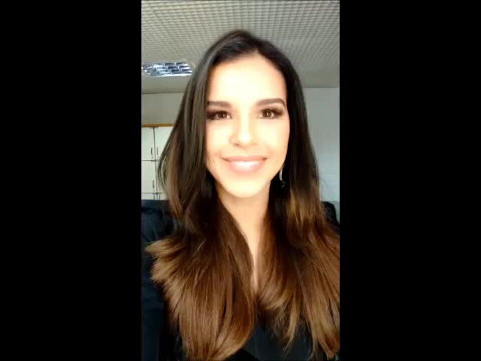 Mariana Rios convida para assistir a Batalha dos Técnicos
