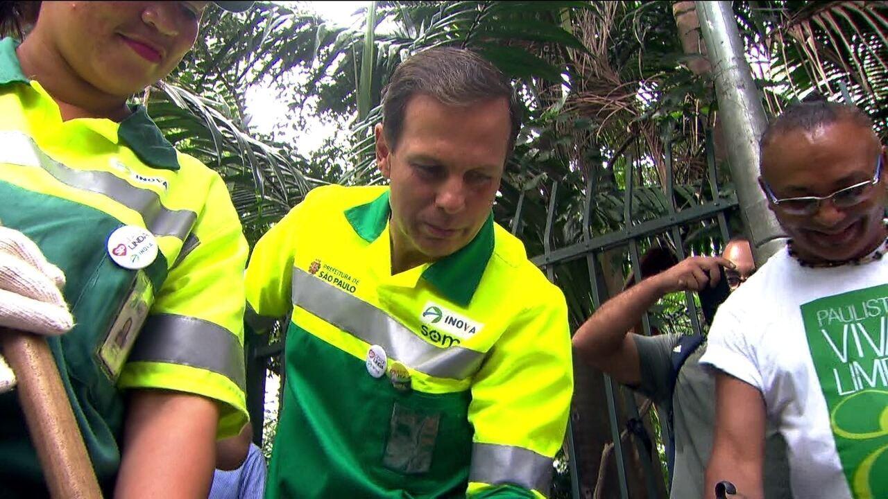 Prefeito João Doria faz hoje a segunda ação do Programa Cidade Limpa