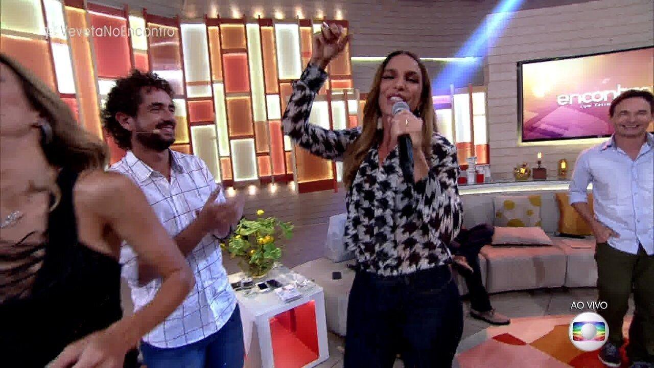 Ivete Sangalo canta 'O Doce' no 'Encontro'