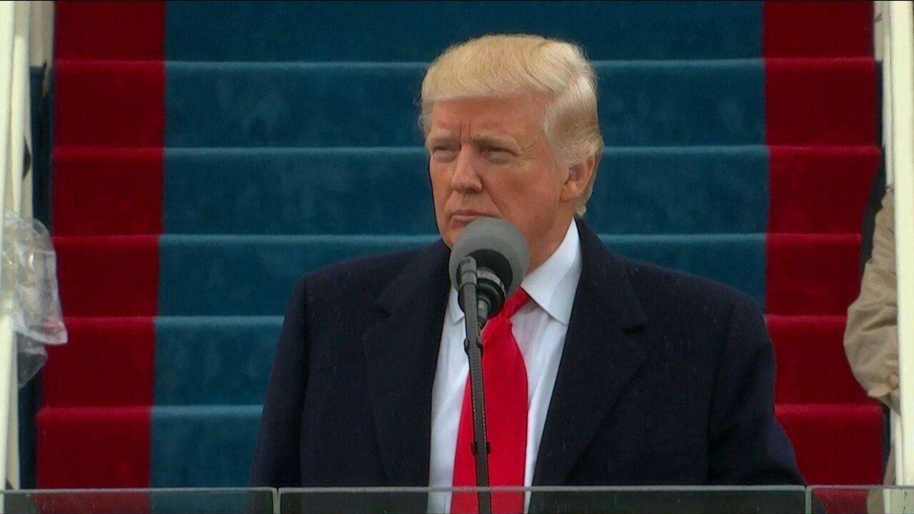 Donald Trump faz primeiro discurso como presidente dos EUA