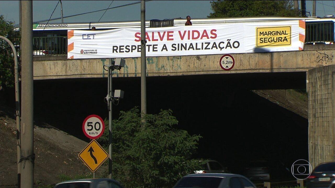Prefeitura recorre da decisão que suspende aumento da velocidade nas marginais