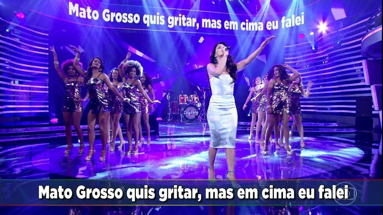 Joyce Cândido canta Saudosa Maloca - Domingão do Faustão