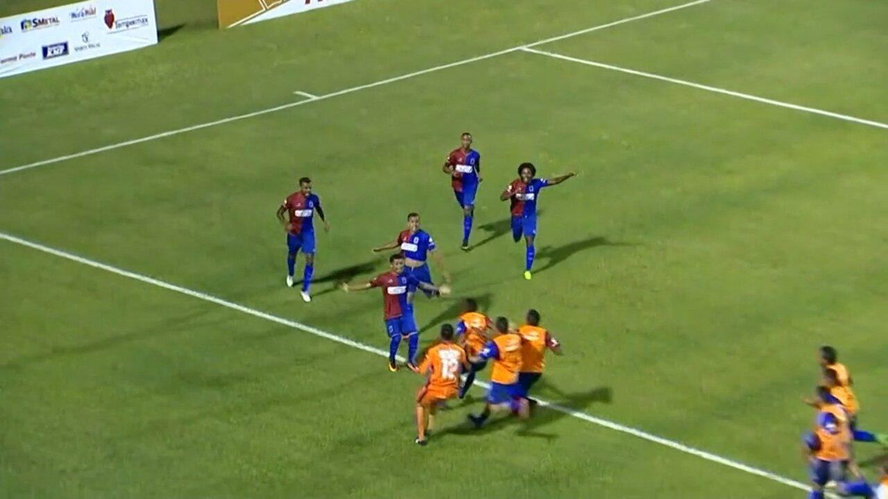 Renatinho faz o gol da classificação contra o São Bento na Copa do Brasil