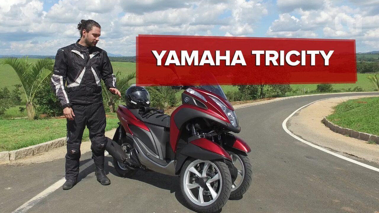 Yamaha Tricity: scooter de 3 rodas se inclina como moto