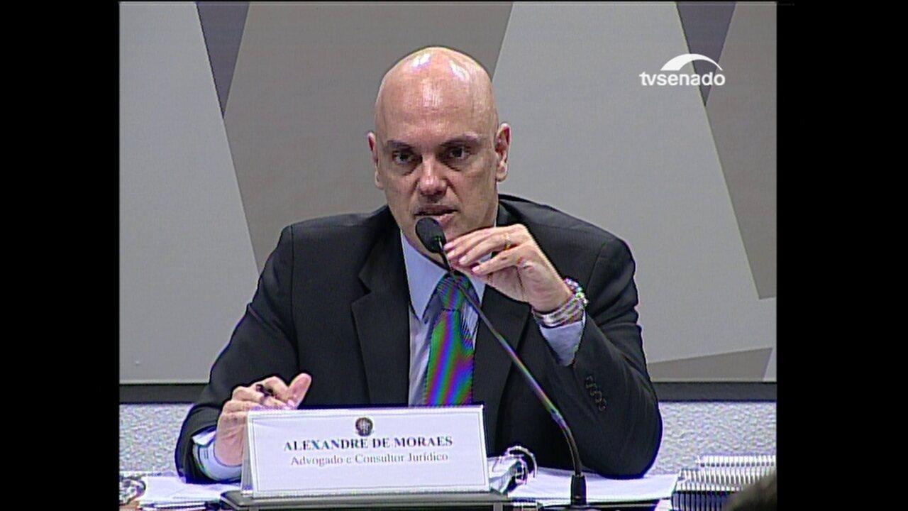 Moraes fala sobre união homoafetiva