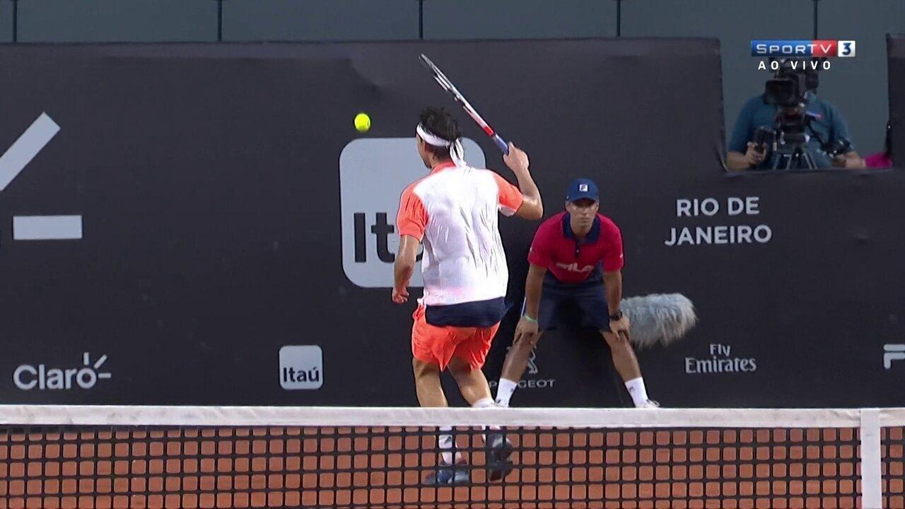 Austríaco faz jogada espetacular à la Federer no Rio Open