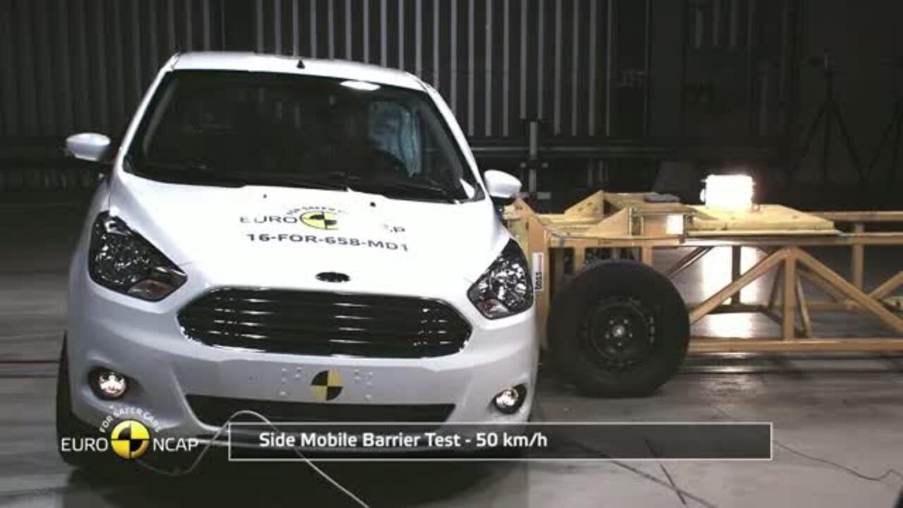 Ford Ka recebe 3 estrelas em teste de colisão na Europa