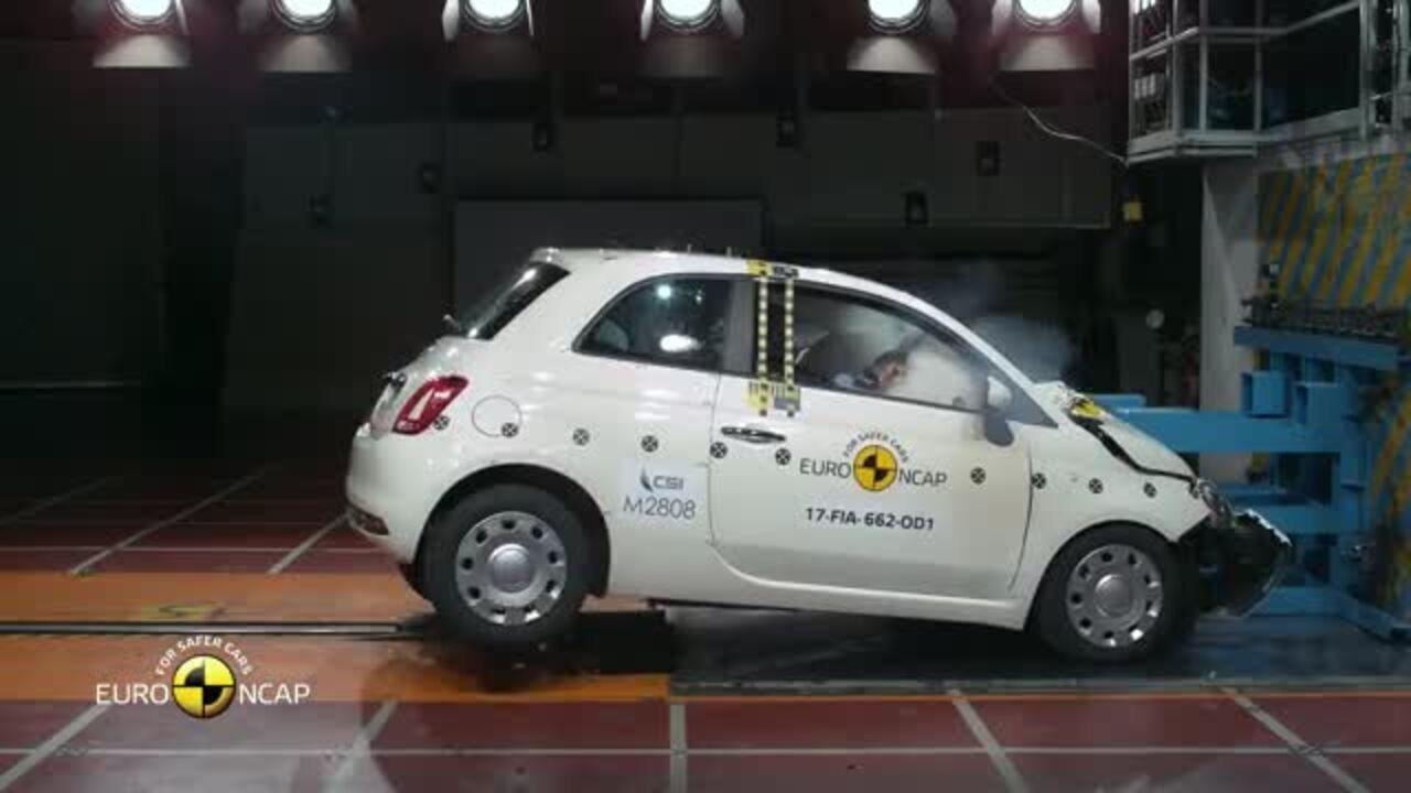 Fiat 500 consegue apenas 3 estrelas em teste de colisão na Europa