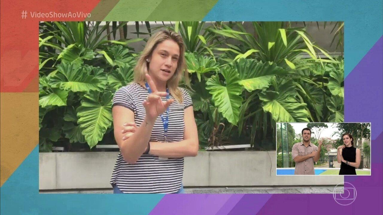 Fernanda Gentil dá dicas para apresentar o programa em pé