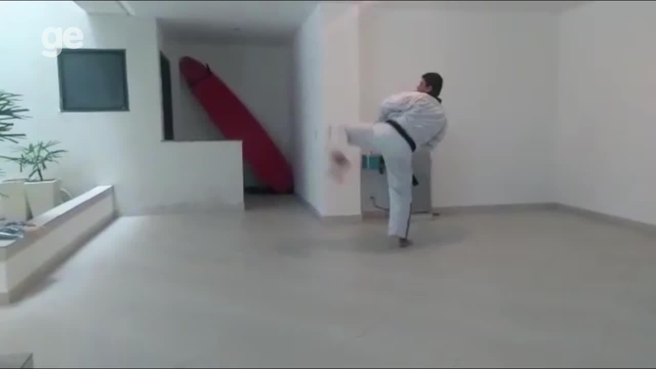 Vídeo mostra exame de graduação do presidente da Federação de Taekwondo do Piauí
