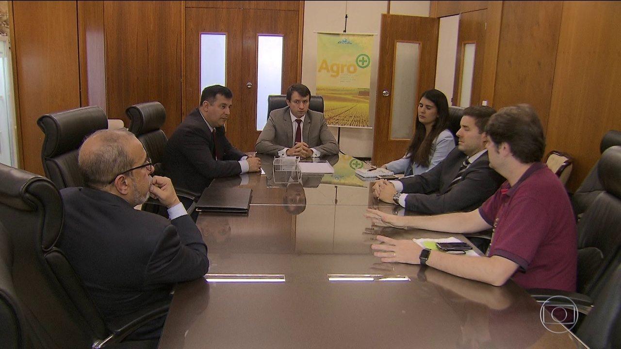 Reunião entre diretor-geral da PF e secretário-executivo do Ministério da Agricultura