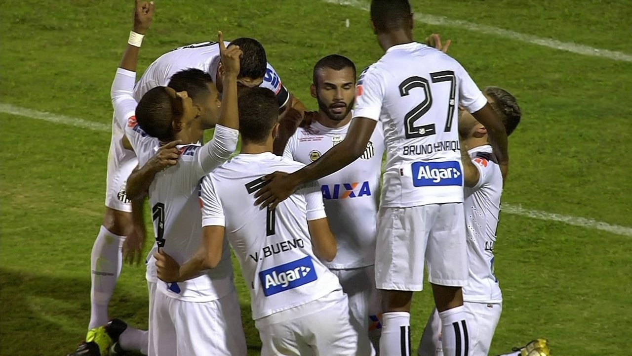 Veja os gols de São Bento 0 x 2 Santos, pela 10ª rodada Campeonato Paulista 2017