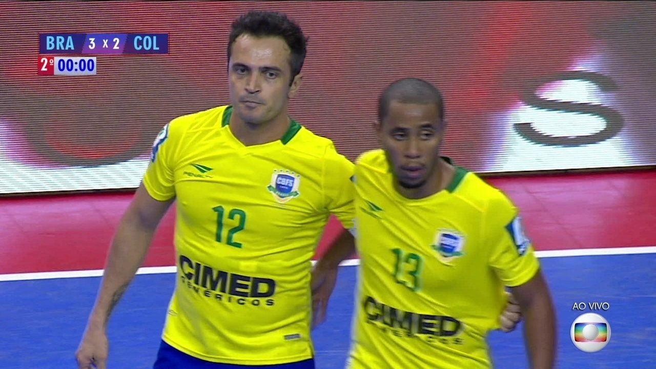 c64967ac2c Melhores momentos  Brasil 3 x 2 Colômbia pelo Desafio Internacional de  Futsal