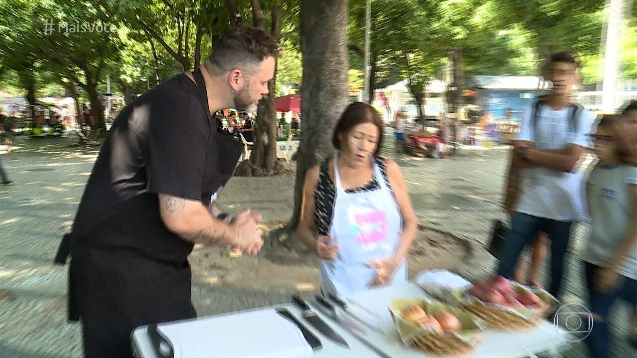 Jimmy Ogro testa dicas para cortar cebola sem chorar
