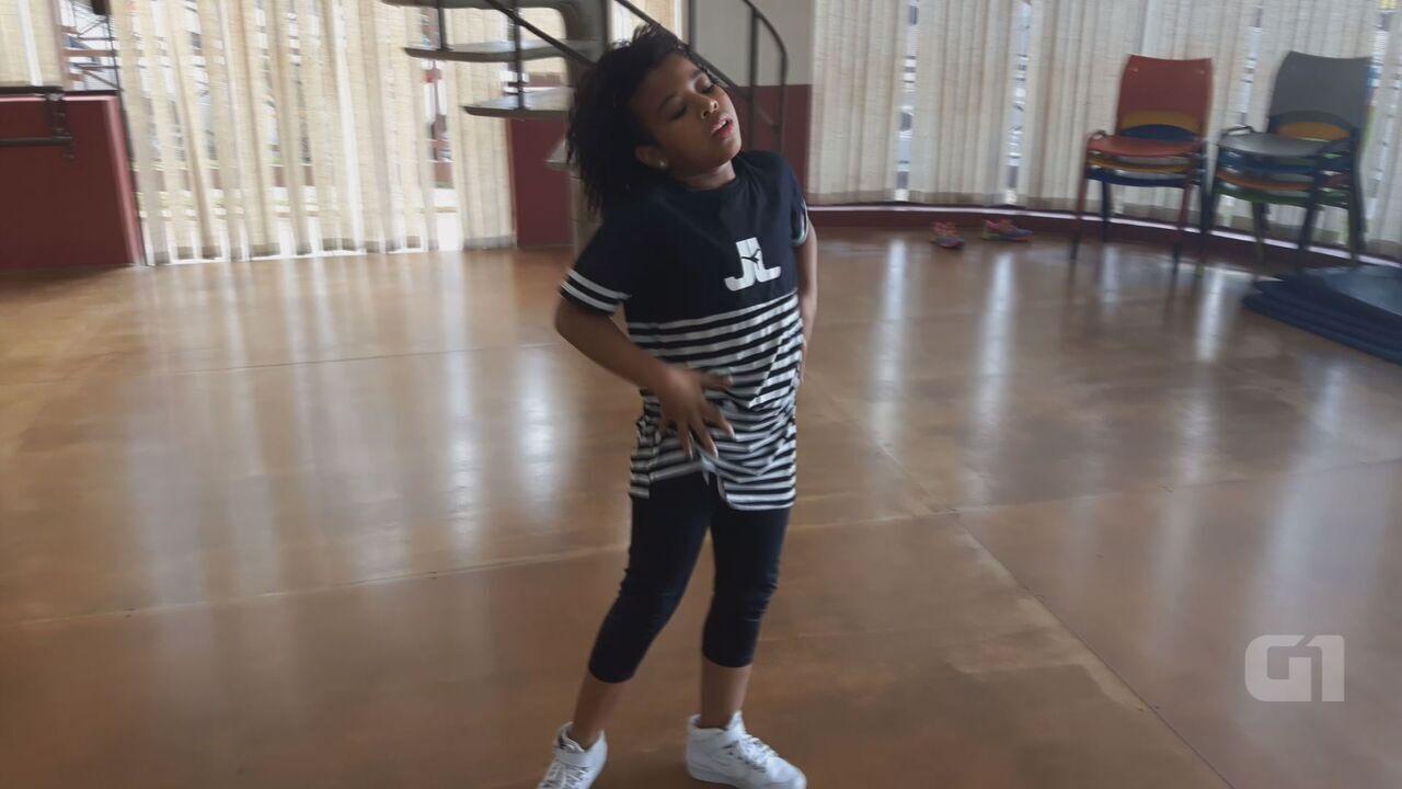Yasmim Nascimento foi uma das crianças selecionadas para dançar no show do Justin Bieber