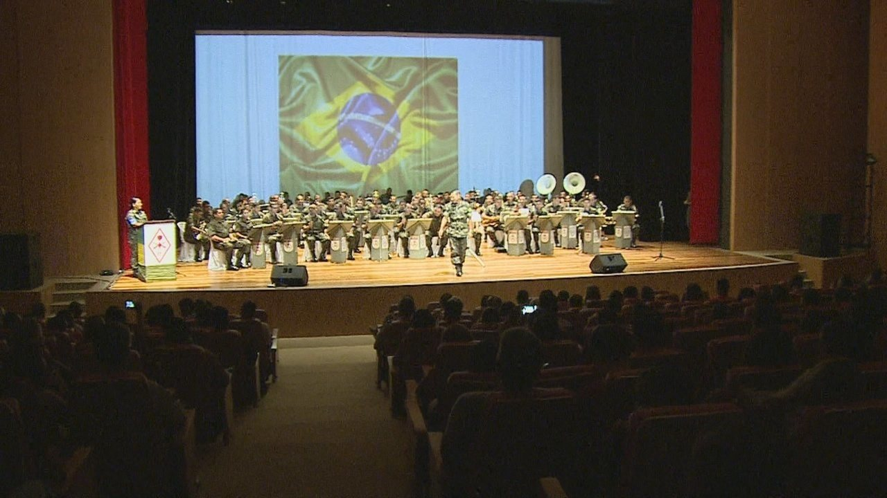Concerto de bandas militares é realizado em Porto Velho