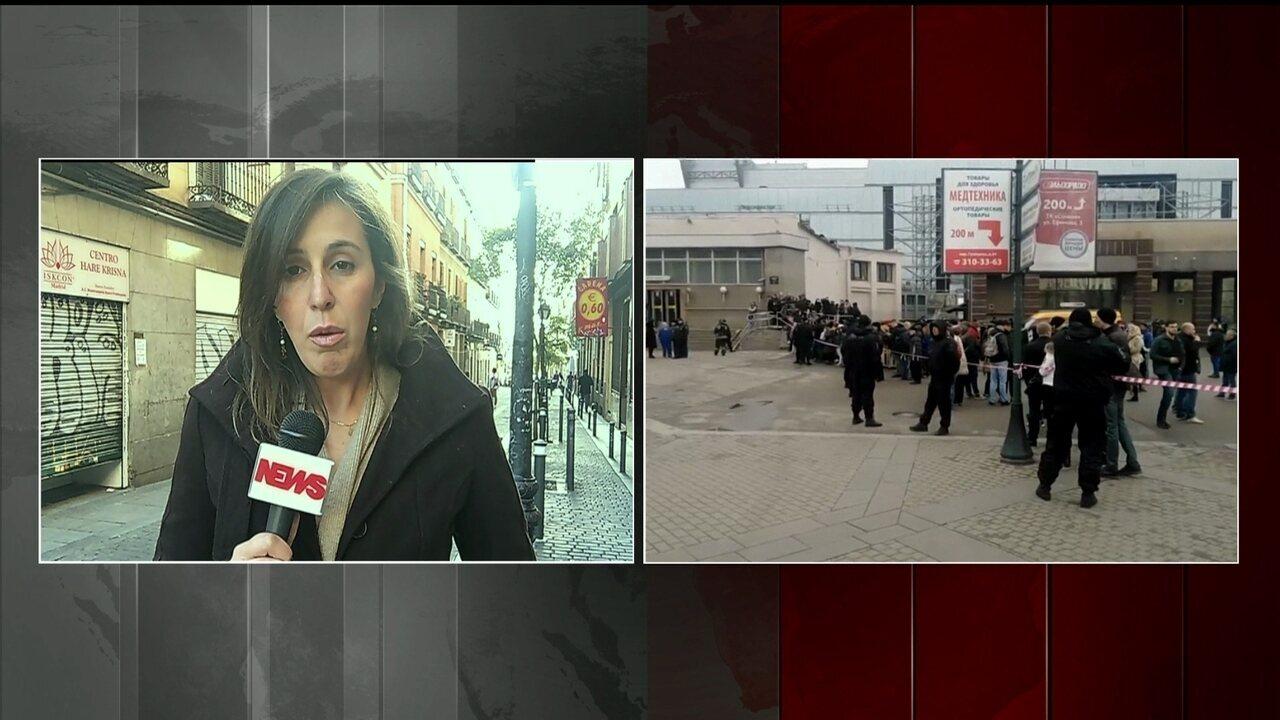 Europa se solidariza com o governo da Rússia após explosão no metrô de São Petersburgo