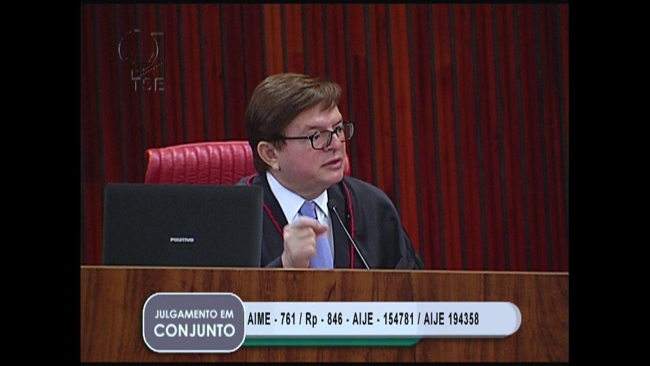 O relator da ação que pede a cassação da chapa Dilma-Temer, ministro Herman Benjamin