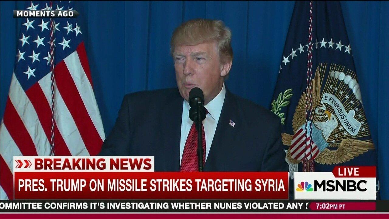 """""""Convoco todas as nações civilizadas para que se juntem a nós"""", diz Trump"""