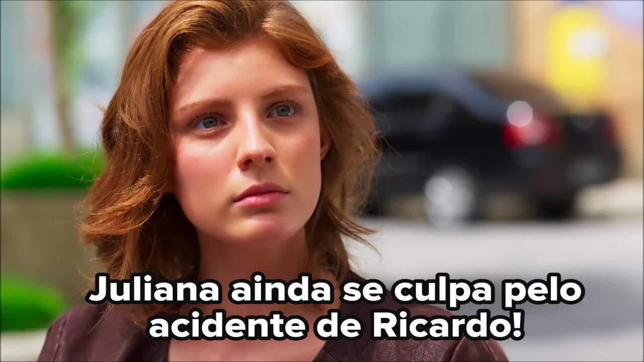 Juliana se emociona com Ricardo