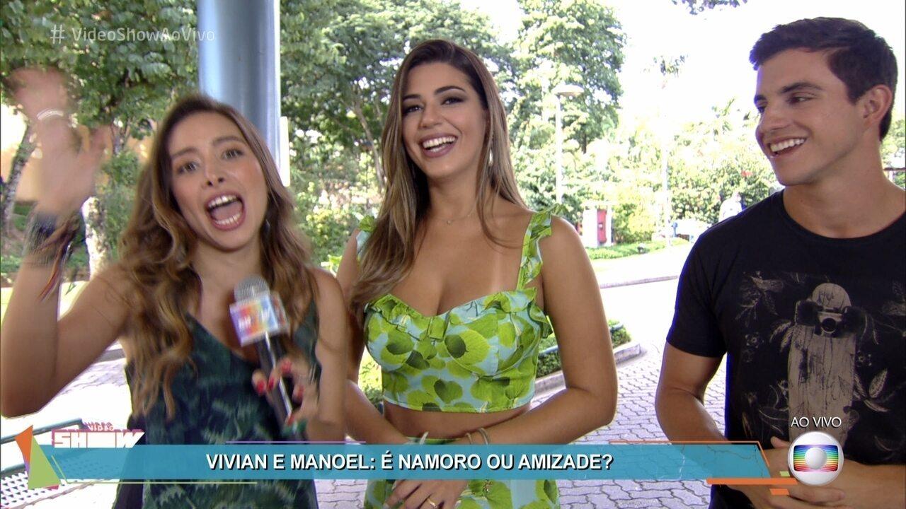 Manoel e Vivian revelam status do relacionamento