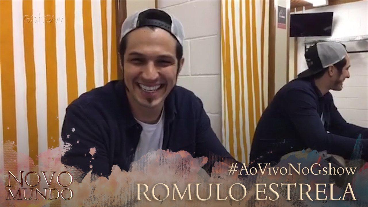Reveja transmissão com Romulo Estrela na página do Gshow