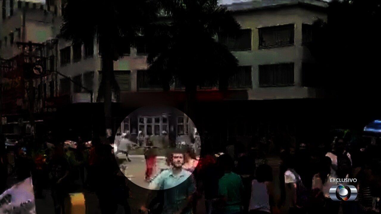 Reveja imagens de manifestante sendo agredido durante protesto em Goiânia