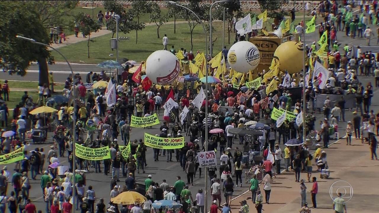 Em Brasília, paralisação deixou 820 mil sem transporte público