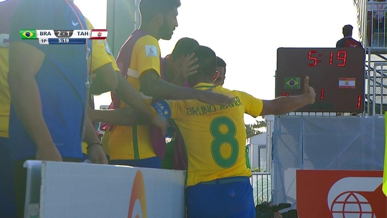 Os gols de Brasil 4 x 1 Taiti pela Copa do Mundo de Futebol de Areia