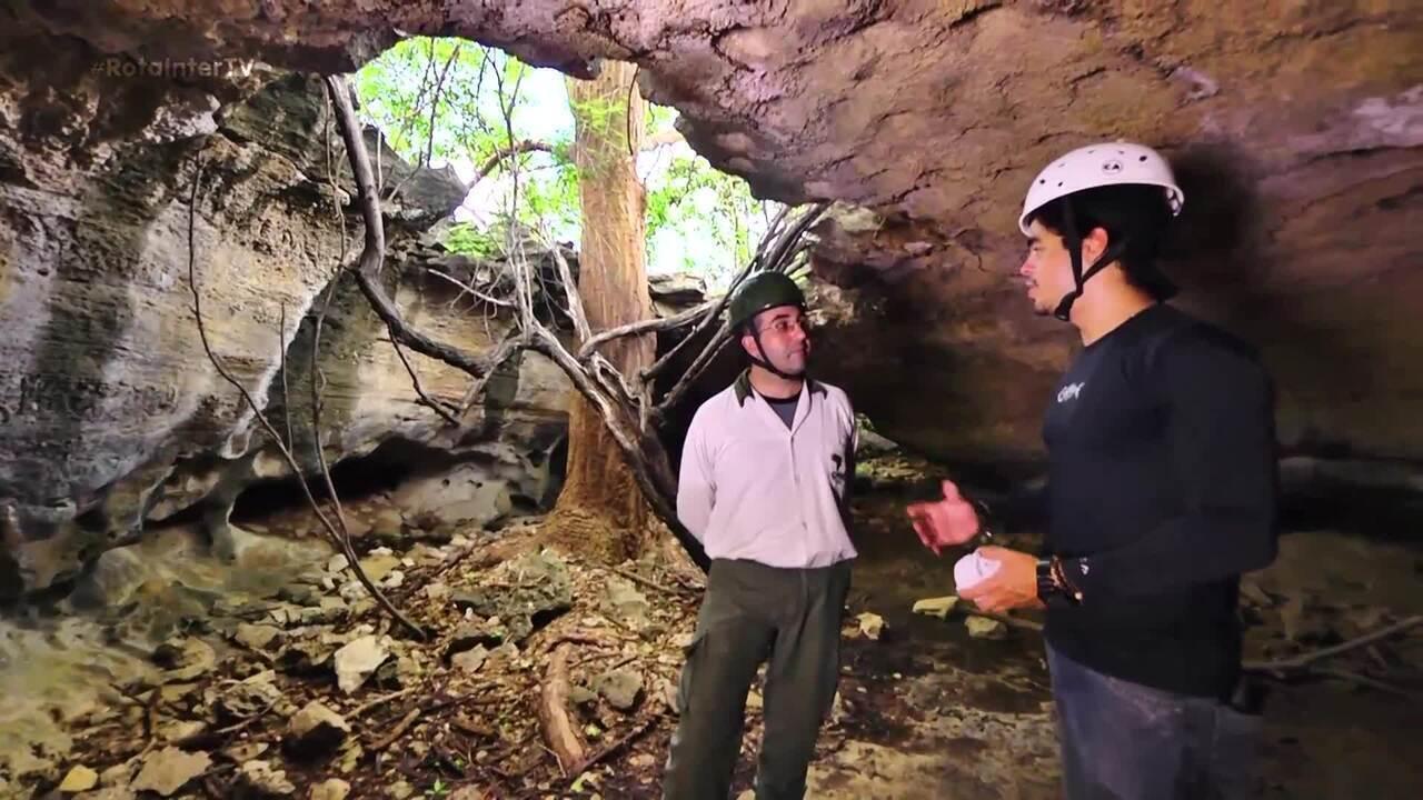 'Caverna do Letreiro' é ponto de visitação no Parque da Furna Feia