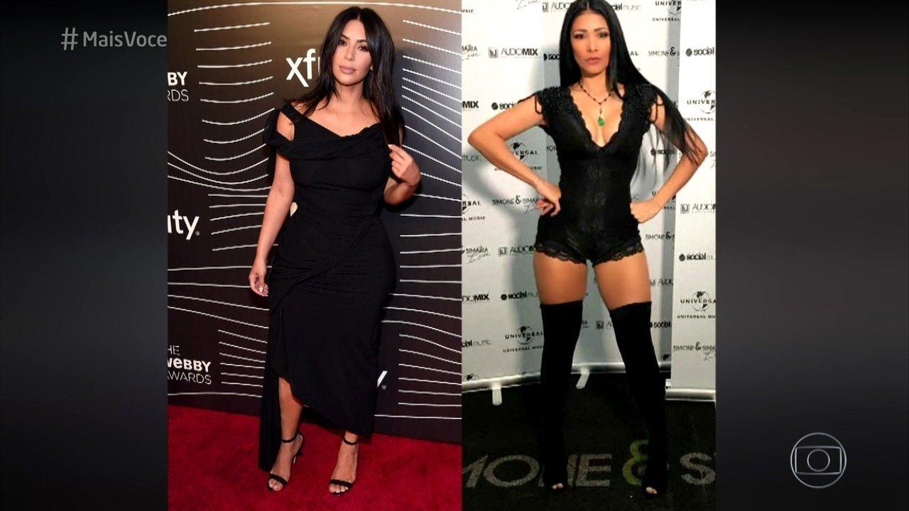 Simaria é comparada a Kim Kardashian