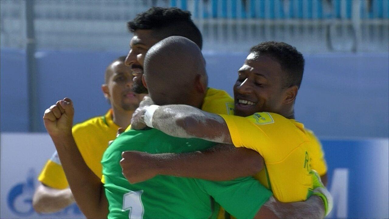 0f6cf3d038 Os gols de Itália 4 x 8 Brasil pela semifinal do Mundial de Futebol de areia