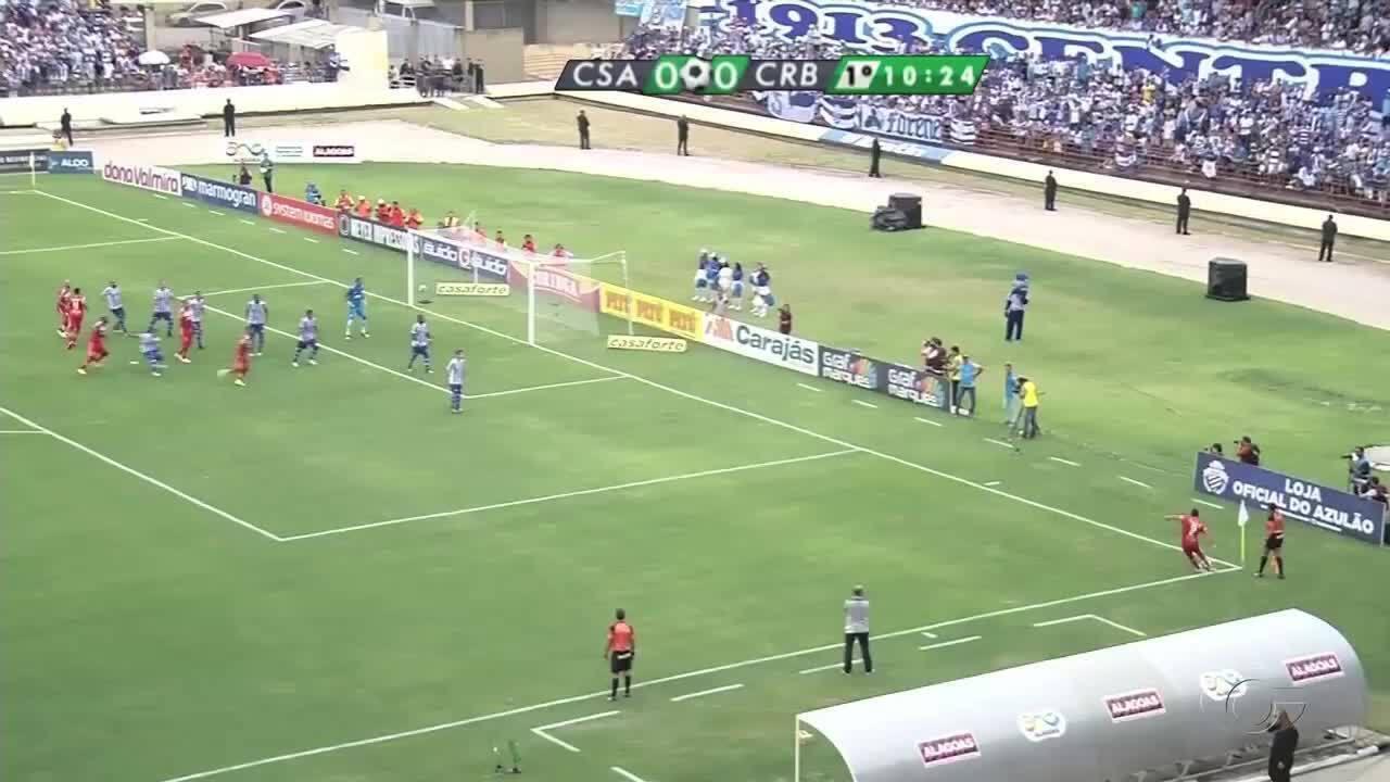 Confira os gols da vitória do CRB por 3 a 2 sobre o CSA na finalíssima do Alagoano.