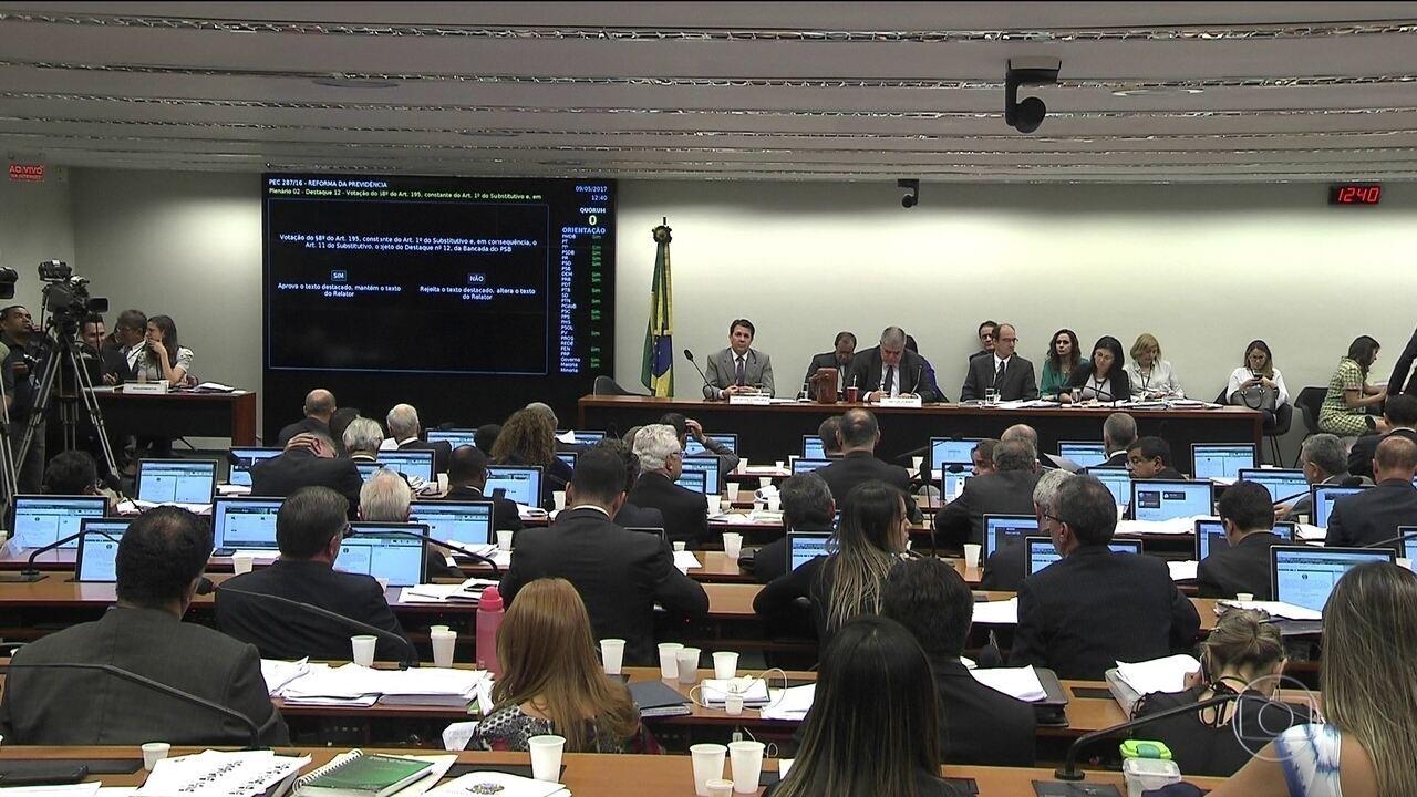Texto da Previdência é votado na comissão especial da Câmara
