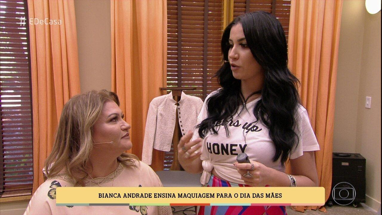 Bianca Andrade ensina maquiagem para o Dia das Mães