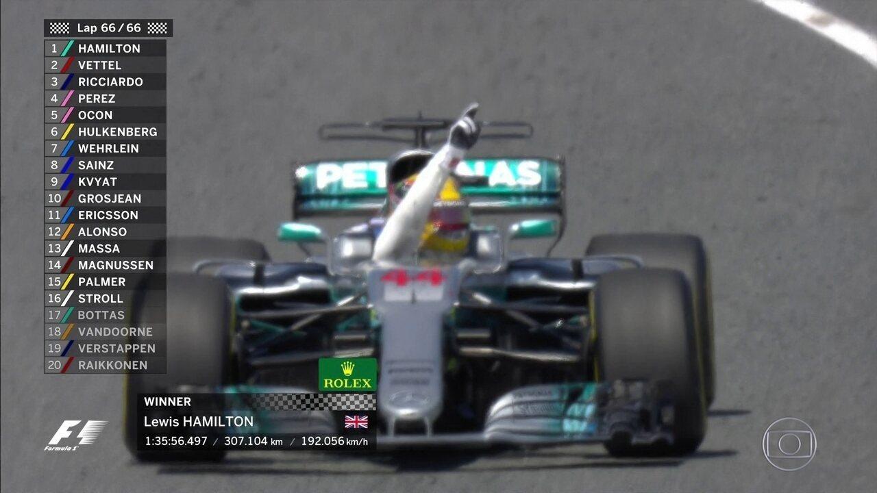 Hamilton vence o GP da Espanha