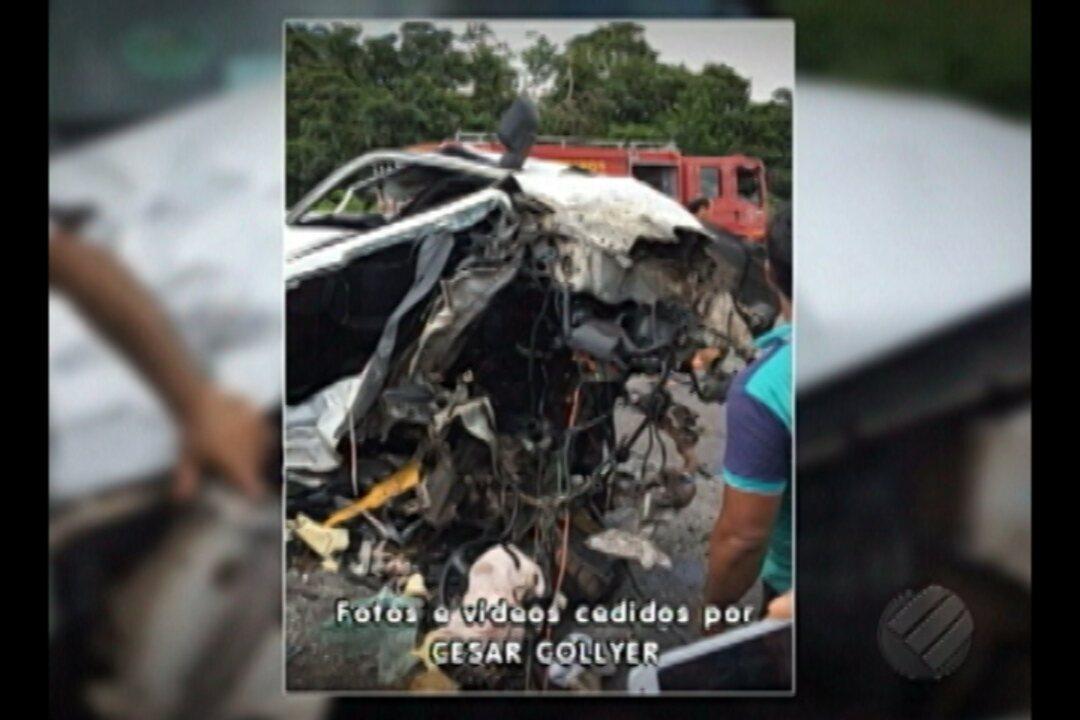 Acidente no km 82 da Br-316 deixa três feridos no município de Sta Maria, nordeste do PA