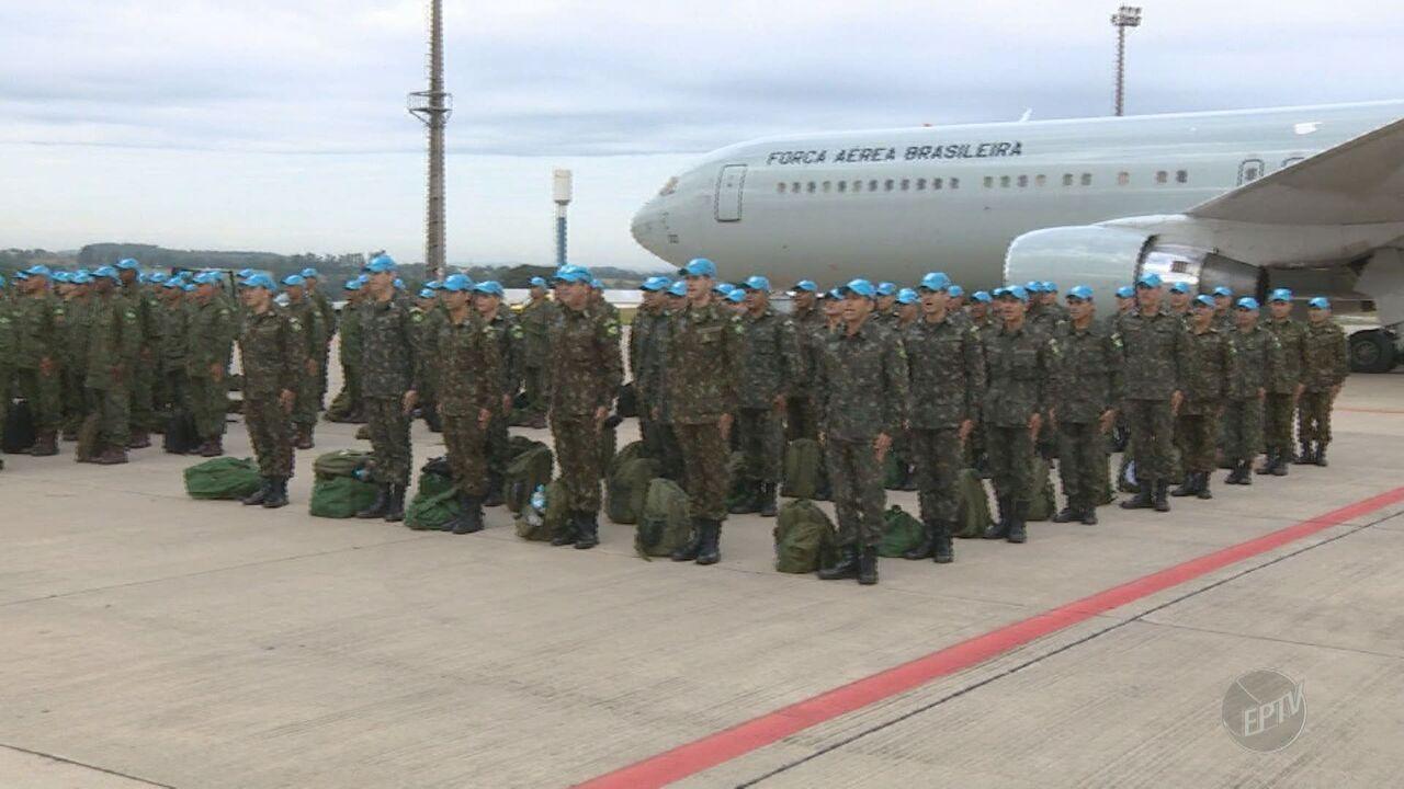 Última tropas do exército embarcam em Viracopos para missão no Haiti
